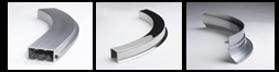Curved aluminum extrusions